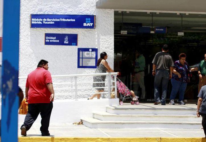 Instalaciones del Servicio de Administración Tributaria, en Mérida. (Milenio Novedades)
