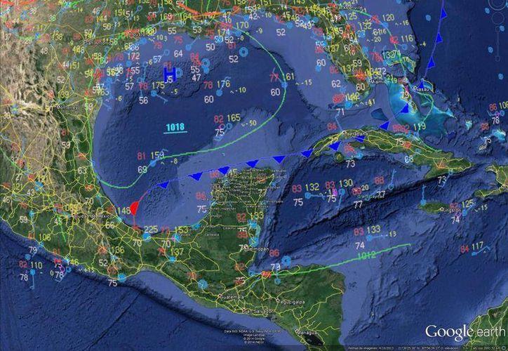 Los remanentes del frente frío número 7 ocasionarán algunas lluvias en las próximas horas. (Conagua)