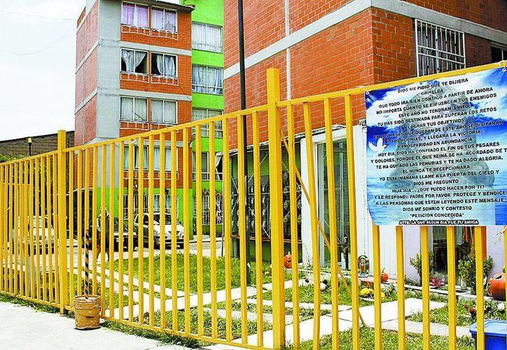 Unidad habitacional donde vive la lideresa desaparecida. (Milenio)