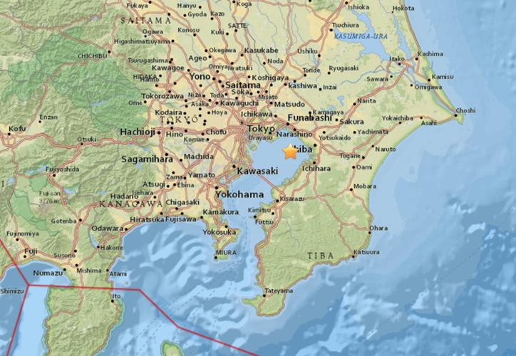 Un sismo de magnitud 4,9 sacudió Japón este viernes. (usgs.gov)