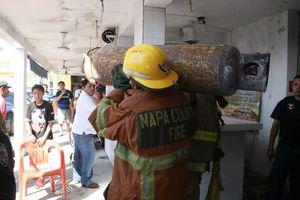 Cimbra a Chetumal explosión de tanque de gas
