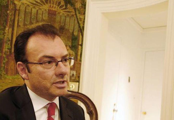 Videgaray indicó que no hay indicadores para modificar el pronóstico actual de crecimiento económico para el país. (Archivo/Notimex)