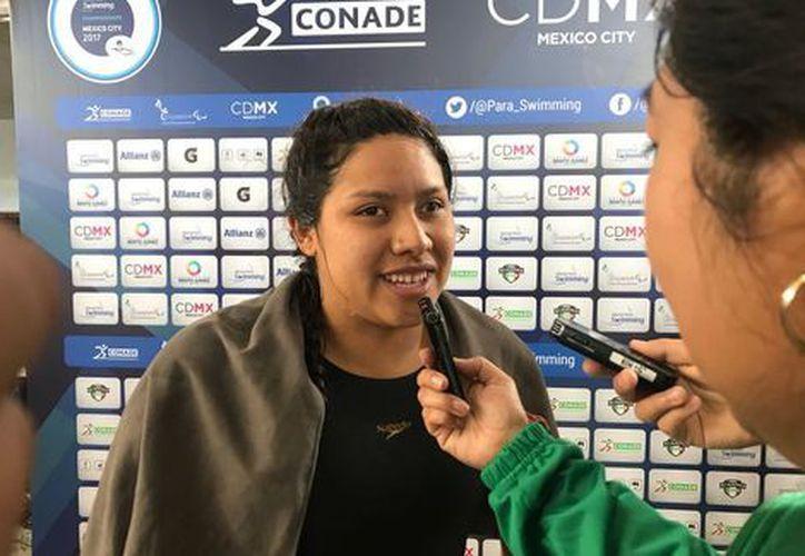 Matilde Alcázar gana la primer medalla de oro para México en el Mundial de Para Natación (Foto: Twitter)