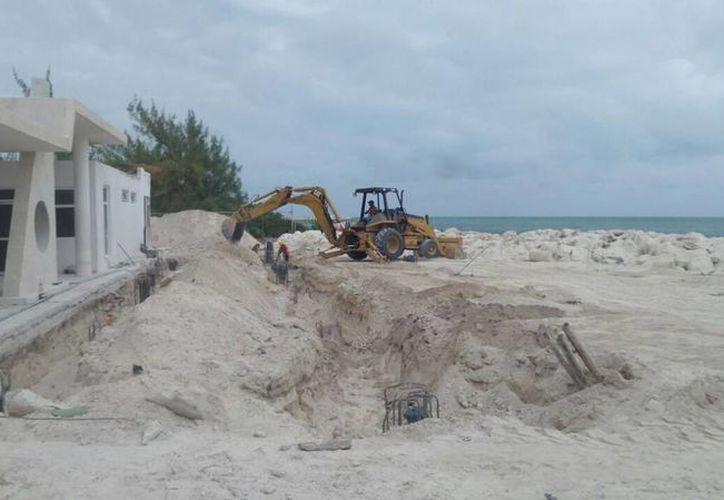 Registran un avance en la construcción de la terminal marítima de Punta Sam. (Redacción/SIPSE)