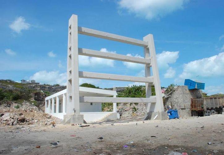 La obra en su primera etapa ya fue entregada por la empresa constructora a la Comuna de Isla Mujeres. (Cortesía/SIPSE)