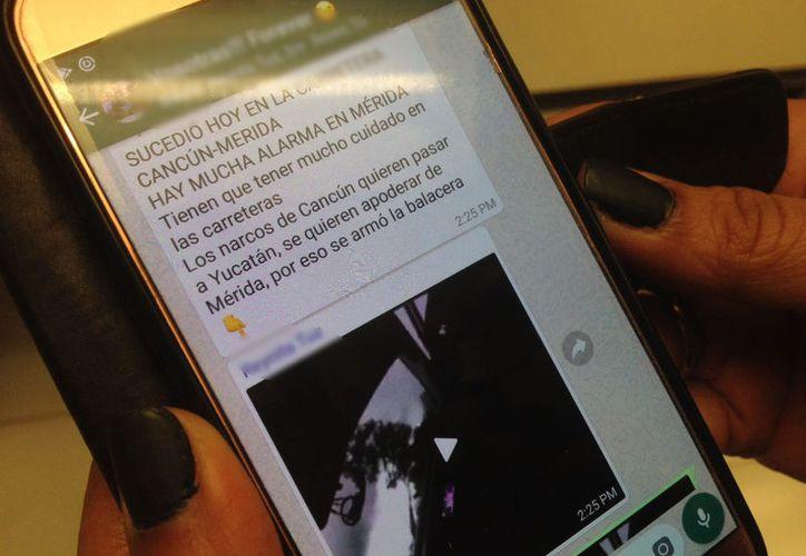 Los mensajes son enviados por el servicio de mensajería WhatsApp. (Christian Coquet/Milenio Novedades)