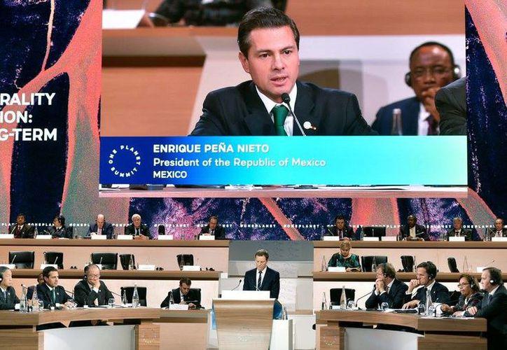 Peña Nieto sostuvo que el Acuerdo de París representa la mayor alianza internacional para combatir el cambio climático. (Facebook)