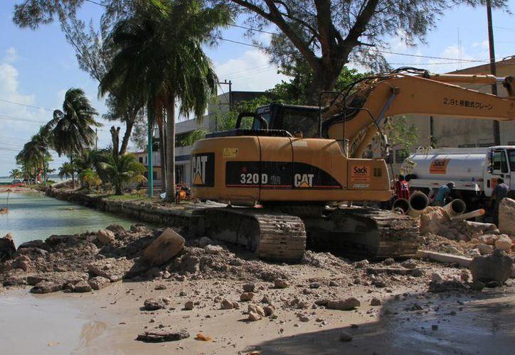 Las obras en la avenida Hidalgo llevan un 75 por ciento de avance. (Ángel Castilla/SIPSE)