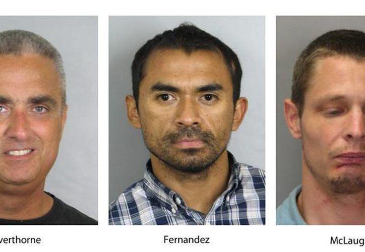El alcalde de Fairfax, R. Scott Silverthorne, fue arrestado junto con sus cómplices Juan José Fernández y Caustin Lee McLaughlin,  tras una reunión con detectives encubiertos. (AP/Policía de Fairfax)