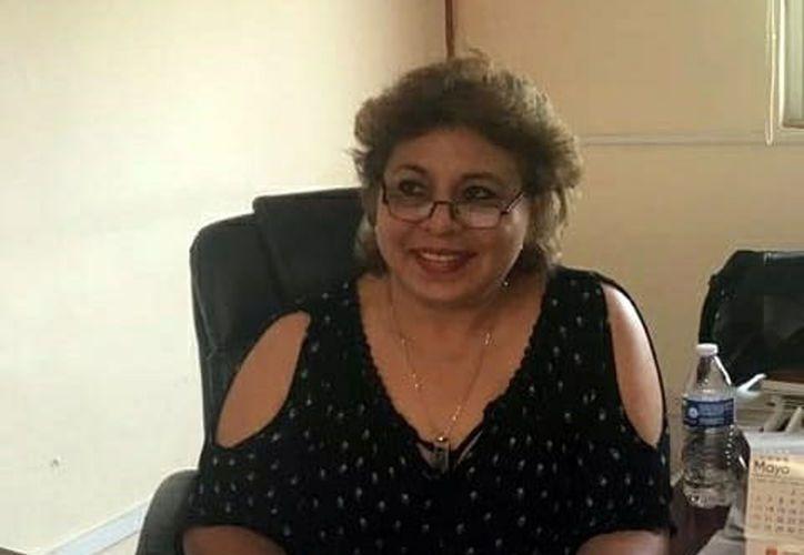 Patricia Lara Palma, una de las aspirantes a dirigente magisterial. (Novedades Yucatán)
