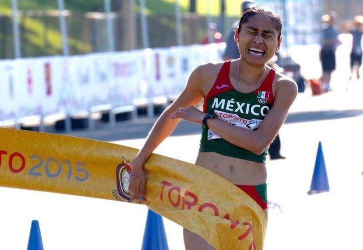La marchista Lupita González, vigente subcampeona mundial en 20 kms, es una de las cartas fuertes para México en Río 2016. (fmaa.mx)