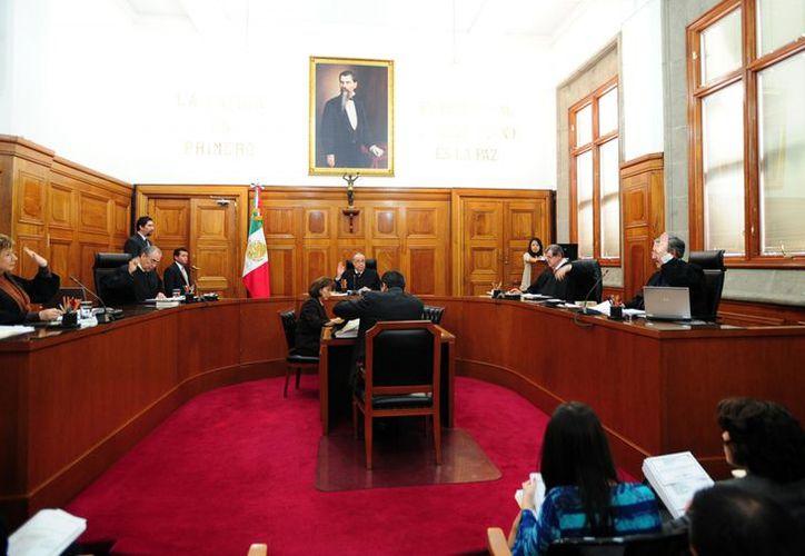 Aspecto de la sesión del Pleno de la segunda sala de la Suprema Corte de Justicia de la Nación, ayer miércoles. (Notimex)