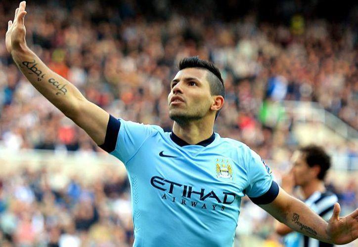 Sergio Agüero fue  goleador esta temporada de la Premier League con 26 goles con el subcampeón Manchester City (AP)