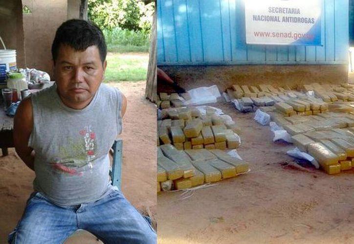 La droga decomisada a Patricio Estigarrabia tiene un valor de 30 mil dólares. (fotos de twitter/@SenadDCS)