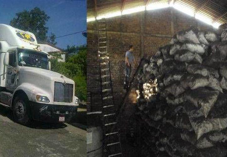 El conductor del trailer con carbón presentó una factura por el monto de la carga, pero no traía el permiso forestal.(profepa.gob.mx/Foto de contexto)