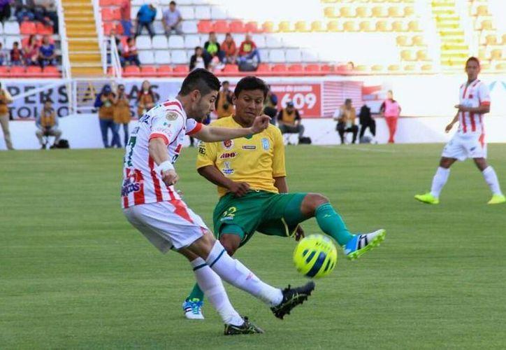 El Mérida tuvo un buen inicio de partido, pero cedió la iniciativa ante el Necaxa. (Foto: CF Mérida)