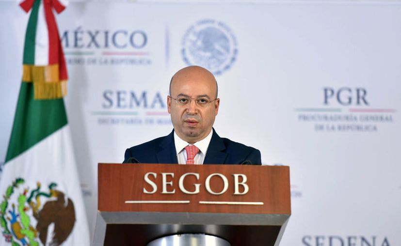 Renato Sales, Comisionado de Seguridad Nacional, dijo a conocer los resultados del operativo. (Gob.mx)
