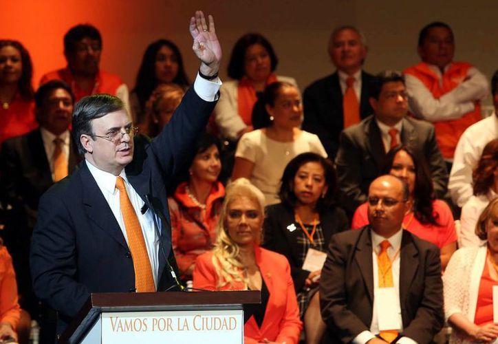 Marcelo Ebrard Casaubón participó en la presentación y arranque de campaña de las candidaturas a jefaturas delegacionales y diputaciones a la Asamblea Legislativa y al Congreso de la Unión de Movimiento Ciudadano en la Ciudad de México. (Archivo/Notimex)