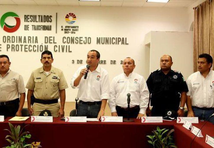 Finalizó la sesión del Comité de Protección Civil. (Cortesía/SIPSE)