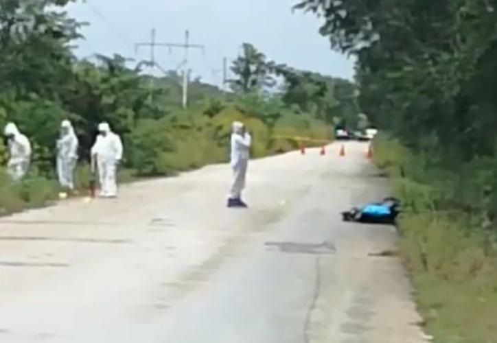 El cuerpo de la mujer fue hallado a un lado de la carretera el pasado 29 de enero. (SIPSE)