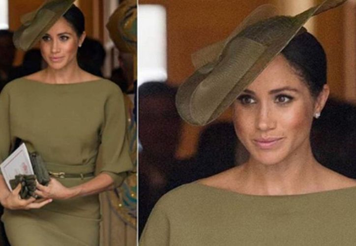 Un vestido en color verde olivo es el que eligió para la ocasión. (Foto: Nueva Mujer)