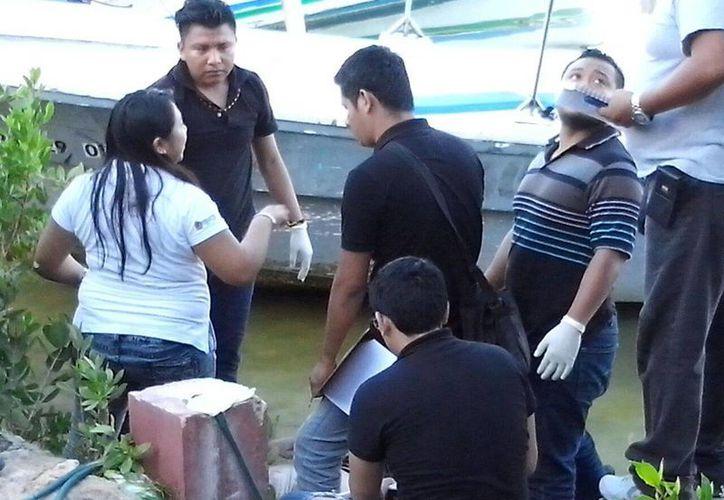 Fue hallado a 100 metros del Hotel Clipper Club en el kilómetro 9 del bulevar Kukulcán. (Redacción/SIPSE)