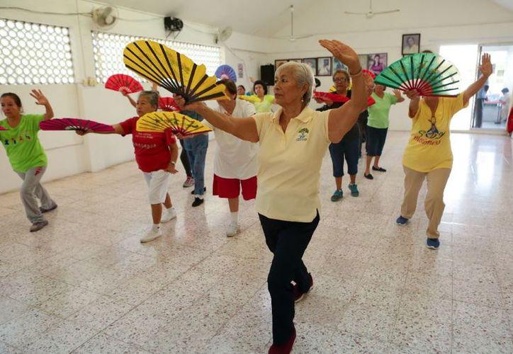 Actualmente, 135 adultos mayores realizan distintas actividades y participan en diferentes talleres. (SIPSE)