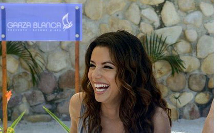 Longoria se dijo muy emocionada de estar en México. (Agencia Reforma)