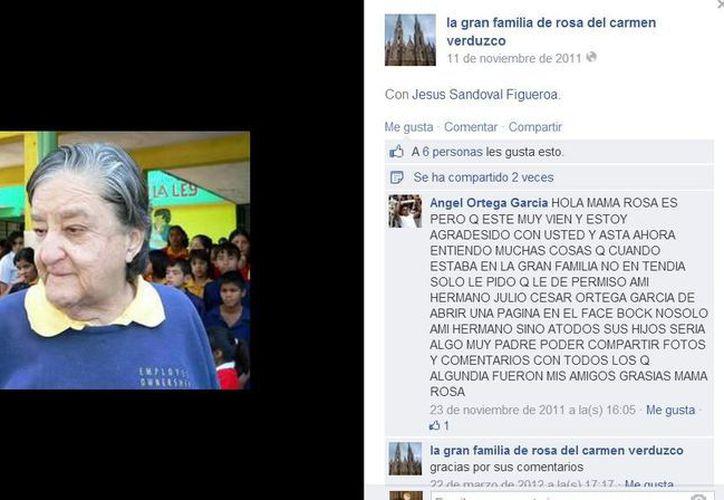 En Facebook hay decenas de mensajes de apoyo hacia Rosa del Carmen Verduzco, quien hace más de 40 años que administra el albergue 'La Gran Familia'. (Facebook/La gran familia de rosa del carmen verduzco)