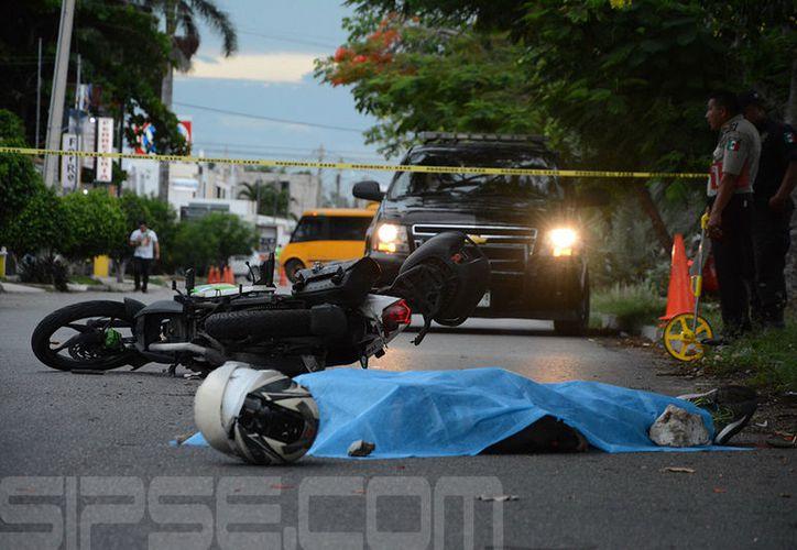 El motociclista perdió la vida al instante. (SIPSE)