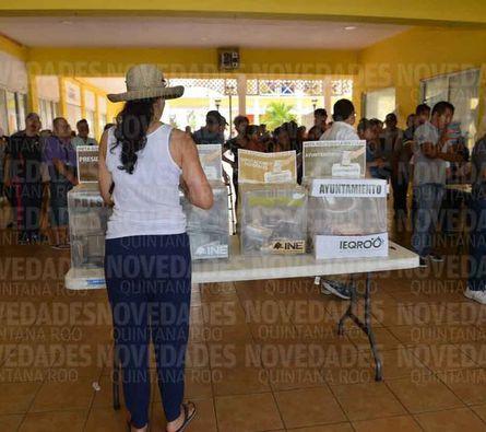 Jornada electoral, sin incidentes en Cozumel