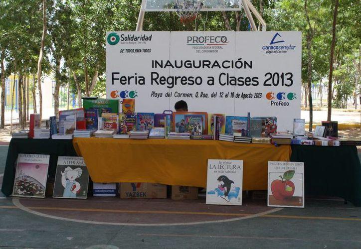 La feria estará instalada hasta el día de hoy, en horario de 9 a 20 horas. (Loana Segovia/SIPSE)