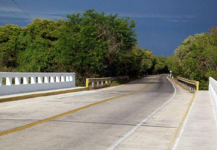 """Hay por lo menos cinco reportes de fantasmas que se aparecen en al vía Mérida-Celestún. En la imagen, la """"curva de la muerte"""", donde se han reportado apariciones. (Jorge Moreno/SIPSE)"""