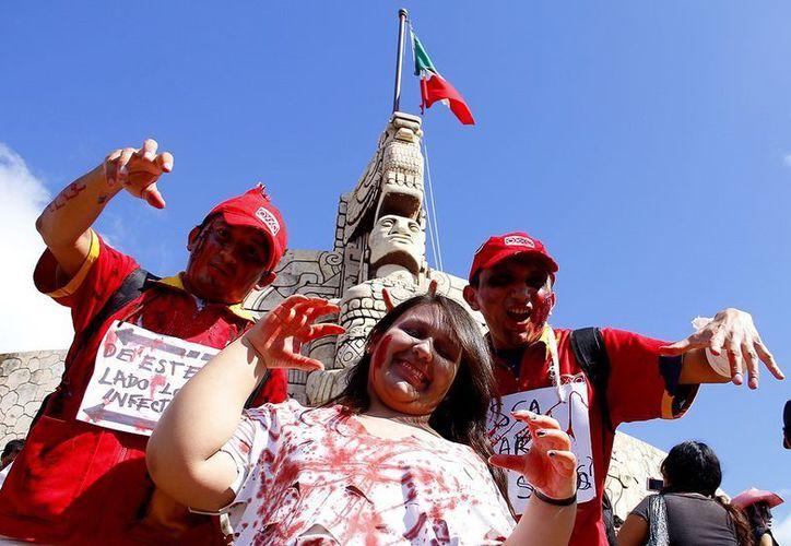 Los zombies en Mérida recorrerán Paseo de Montejo desde del Monumento a la Patria. (SIPSE)