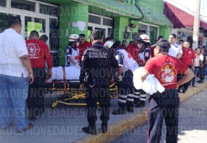 Apuñalan a una mujer en la Supermanzana 23 de Cancún. (Pedro Olive/SIPSE)
