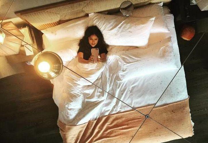 Salma Hayek compartió la imagen tomada desde la habitación del hotel en donde se hospedó, en Nueva York. (Instagram: @salmahayek)