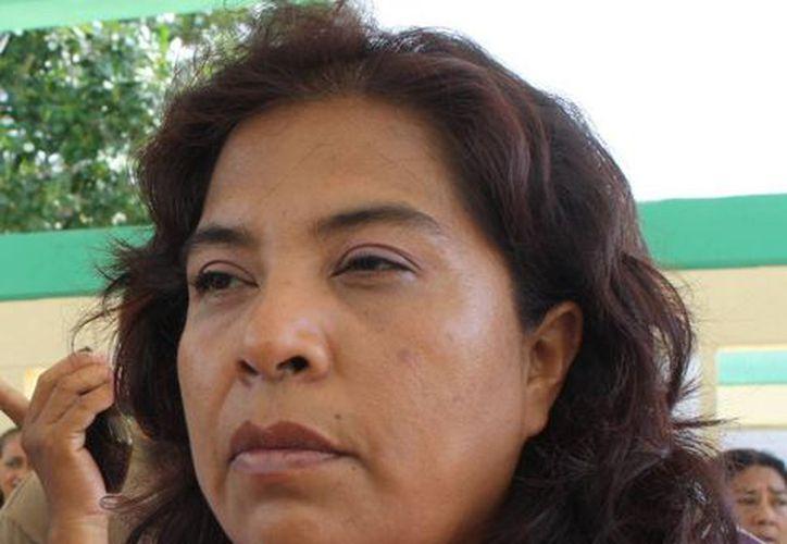 Carolina Montero, presidenta de la Mesa Directiva de Padres de Familia. (Loana Segovia/SIPSE)