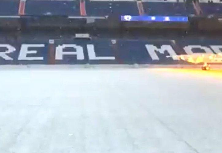 La fuerte nevada caída en Madrid afectó de lleno a los jugadores del Real Madrid. (Captura Twitter)