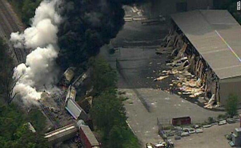 Vista aérea del sitio donde ocurrió el descarrilamiento. (actualidad.rt.)