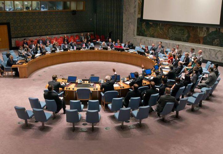 Miembros de seguridad del Consejo de Seguridad de la ONU sobre su reunión del día de hoy. (Agencias)