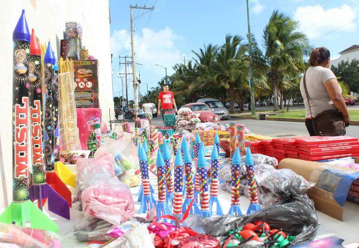 De acuerdo a las autoridades, no se emitieron permisos para la venta de pirotecnia. (Yvette Ycos/SIPSE)