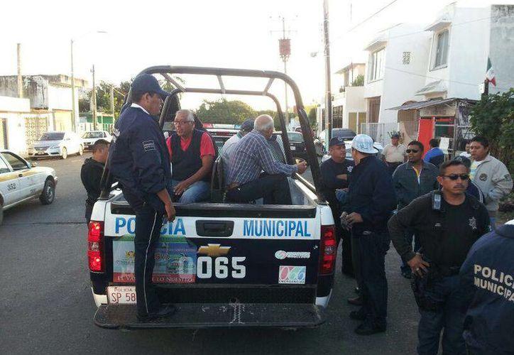 El dirigente del Suchaa confirmó que los tres detenidos son taxistas. (Harold Alcocer/SIPSE)