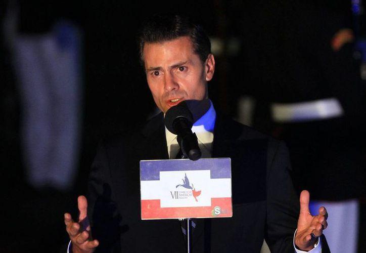 El presidente Enrique Peña Nieto afirmó que México siempre ha mantenido una posición a favor del diálogo y la solución pacífica de las controversias. (EFE)