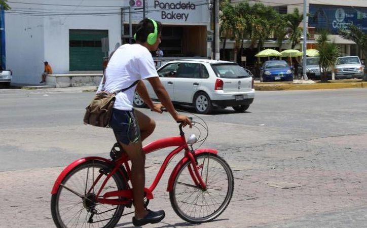 En el ranking de ciclociudades, se establecen que en Quintana Roo 7 de cada 10 ciclistas se ven envueltos en accidentes de tránsito.  (Redacción/SIPSE)