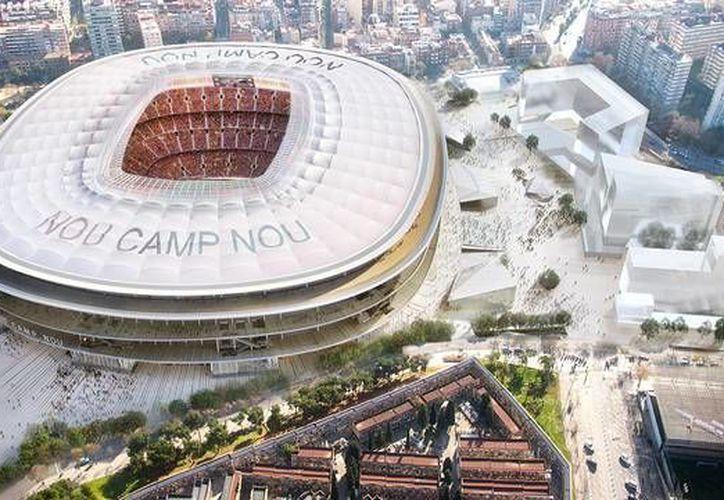 Las obras del nuevo Camp Nou no se pondrán en marcha hasta que la deuda del club (328 millones de euros) no se reduzca por debajo de los 200. (Imágenes/ Barcelona)