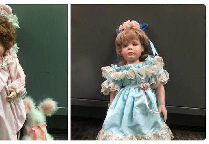 Las familias descartaron que se tratara de una broma por el parecido que guardan las muñecas con sus hijas. (Twitter.com/@OCSD)