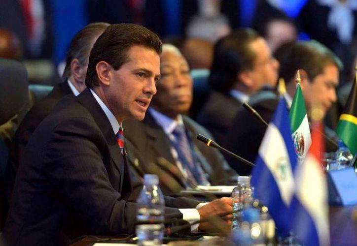 Peña Nieto también ofreció el respaldo de México al proceso de paz en Colombia. (Presidencia)