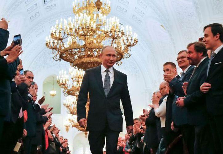 """El presidente de Rusia dio las gracias al pueblo ruso por su """"apoyo sincero"""". (AP)"""