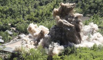 N. Korea demolishes nuclear test site as journalists watch