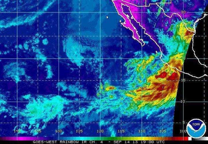 La tormenta tropical Manuel ha causado fuertes lluvias en Chiapas y otros estados desde hace más de 48 horas. (ssd.noaa.gov)